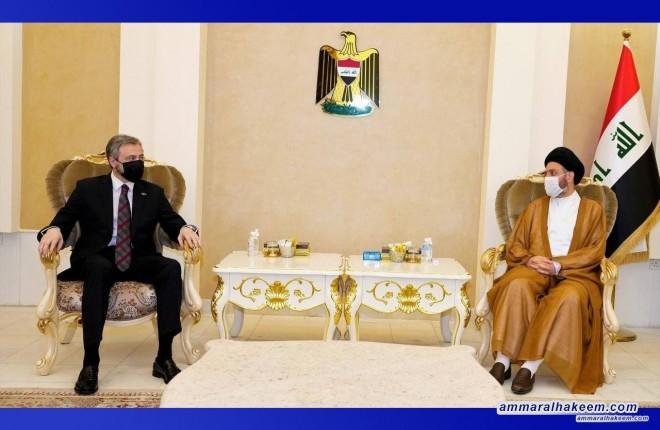 السيد عمار الحكيم يبحث مع السفير الصربي تطورات المشهد السياسي والعلاقات الثنائية بين البلدين