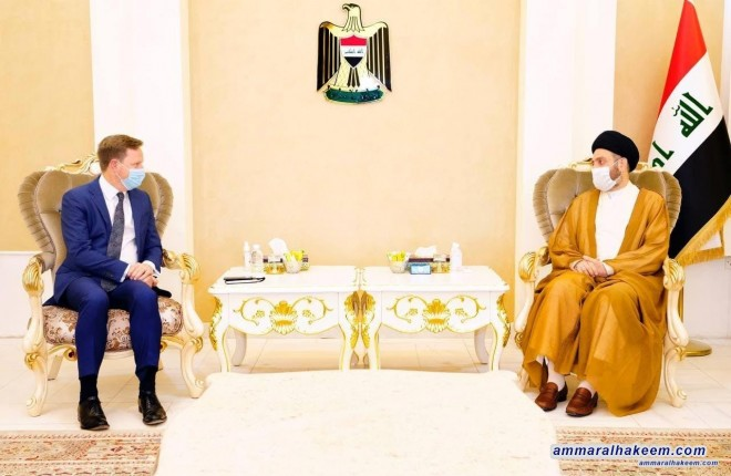 Sayyid Ammar Al-Hakeem discusses Iraq, regional political scene development with British Ambassador
