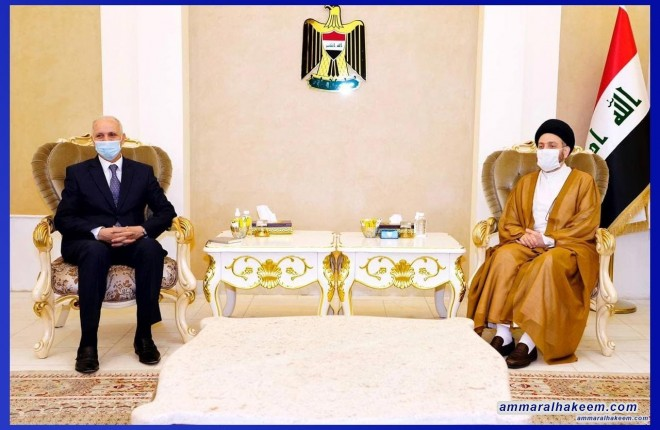 Sayyid Ammar Al-Hakeem discusses Iraq's aspiration roles from Arabs after concerns overcome with Tunisian Ambassador