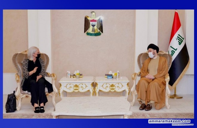 Sayyid Ammar Al-Hakeem discusses early elections, international support with SRSG Plaschart