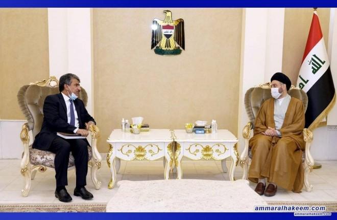 Sayyid Ammar Al-Hakeem discusses political scene, bilateral relations with Kuwaiti Ambassador