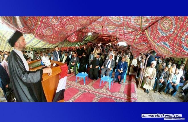 Sayyid Ammar Al-Hakeem visits Bani Uqba tribe in Wasit Province