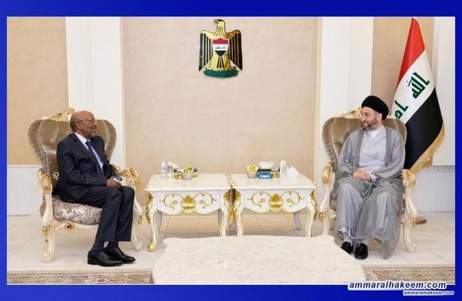 السيد عمار الحكيم يستقبل السفير الصومالي لدى بغداد