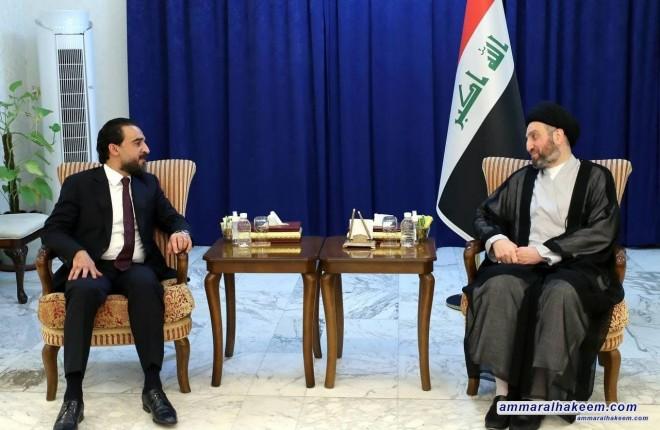 السيد عمار الحكيم يبحث مع الحلبوسي تطورات المشهد السياسي في العراق والمنطقة