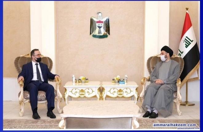 Sayyid Ammar Al-Hakeem discusses bilateral relations, political scene developments with Russian Ambassador Plenipotentiary