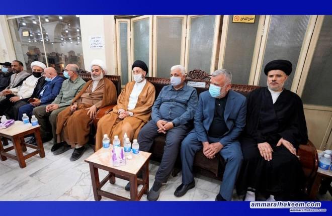 Sayyid Ammar Al-Hakeem attends Iraqi-Syrian border's American air assault martyrs' funeral