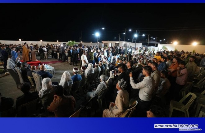 In Kirkuk; Sayyid Ammar Al-Hakeem meets Al-Sheik Akram Zangana with groups of different components