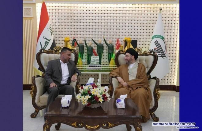 Sayyid Ammar Al-Hakeem visits Popular Mobilization Command Headquarters in Amerli Al-Samoud