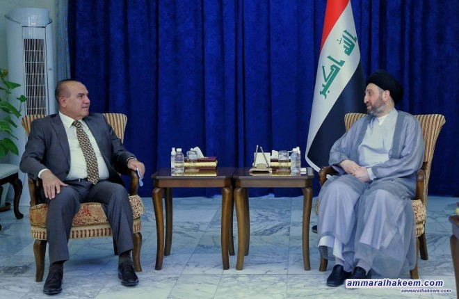 Sayyid Ammar Al-Hakeem stresses the need to unify religious discourse whilst receiving Head of Sunni Endowment Office