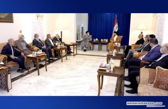 السيد عمار الحكيم يستقبل وزير الاستخبارات والأمن الوطني الإيراني