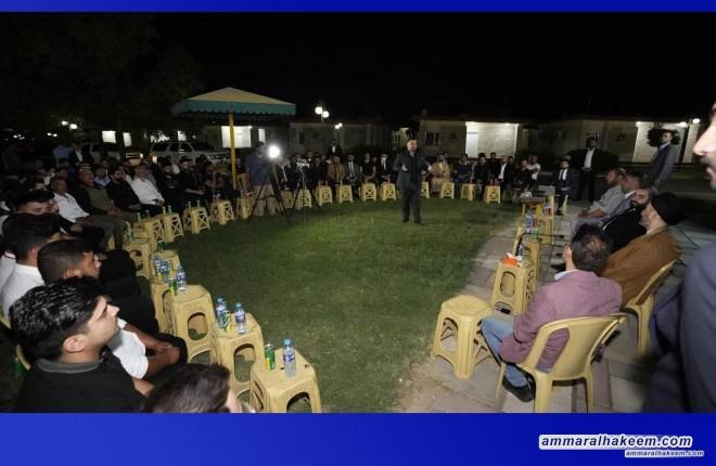 """السيد عمار الحكيم يلتقي القيادات التنظيمية لـ""""تيار الحكمة الوطني"""" في نينوى"""