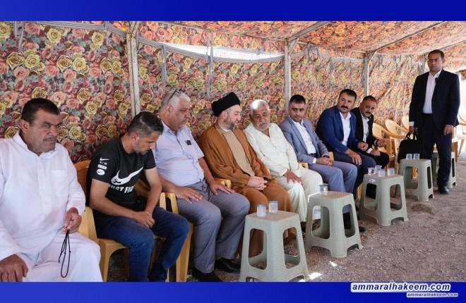 Sayyid Ammar Al-Hakeem visits martyr Karar Al-Shabki's family