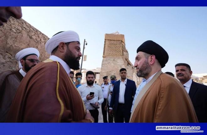 خلال زياته نينوى .. السيد عمار الحكيم يزور جامع النوري