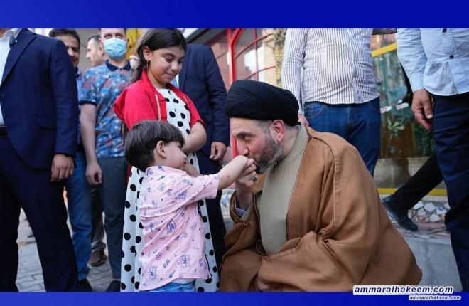 السيد عمار الحكيم يزور ساحل الموصل الايمن ويدعو الى الاسراع في اعمار ما دمره الارهاب