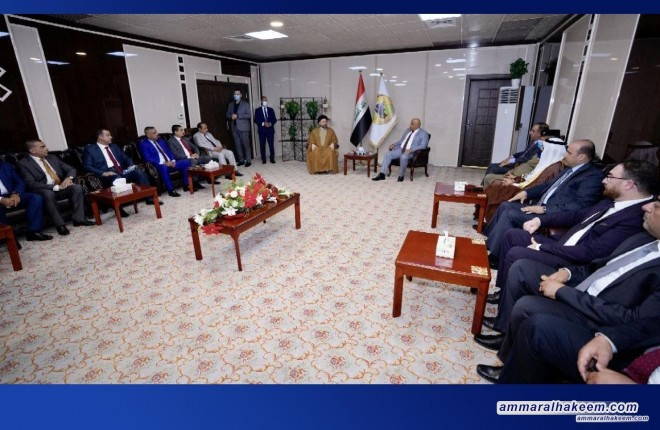 Sayyid Ammar Al-Hakeem arrives in Saladin; meets its governor, service, security departments directors