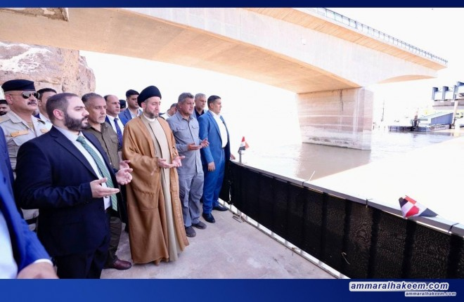 During his tour in Saladin Province, Sayyid Ammar Al-Hakeem visits the Speicher massacre site and pray for mercy on the souls of the martyrs