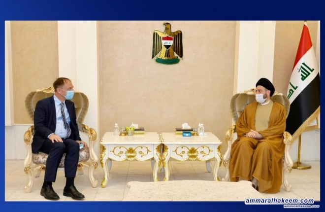 Sayyid Ammar Al-Hakeem discusses bilateral relations between Baghdad, Berlin with German Foreign Ministry Middle East, North Africa Director