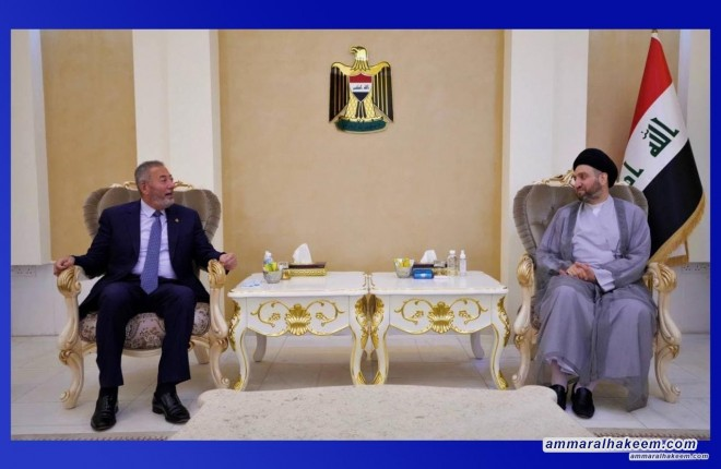 Sayyid Ammar Al-Hakeem discusses Iraq's, Region's political scene with Jordanian Ambassador