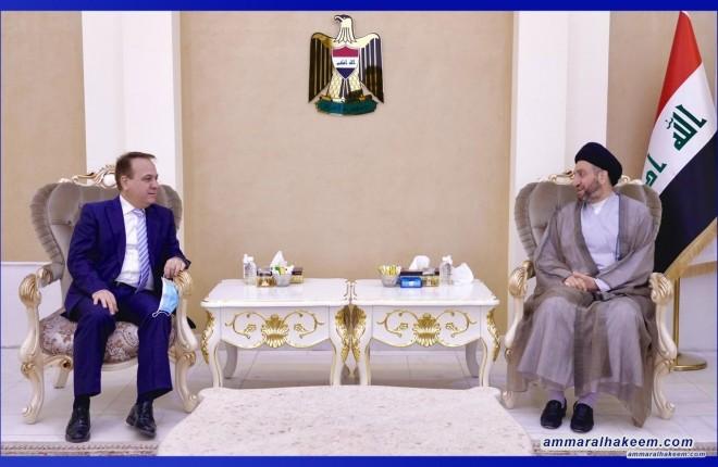 Sayyid Ammar Al-Hakeem to the Lebanese Ambassador: We support the Iraqi government's efforts to help Lebanese people