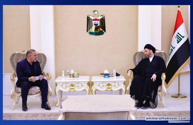 Sayyid Ammar Al-Hakeem discusses city's service reality with Al-Muthanna's Governor