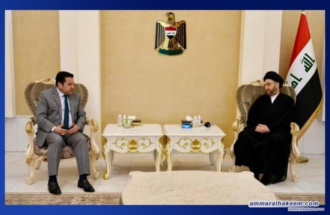 السيد عمار الحكيم يبحث مع مستشار الامن القومي  تطورات المشهد السياسي ومؤتمر بغداد للشراكة والتعاون