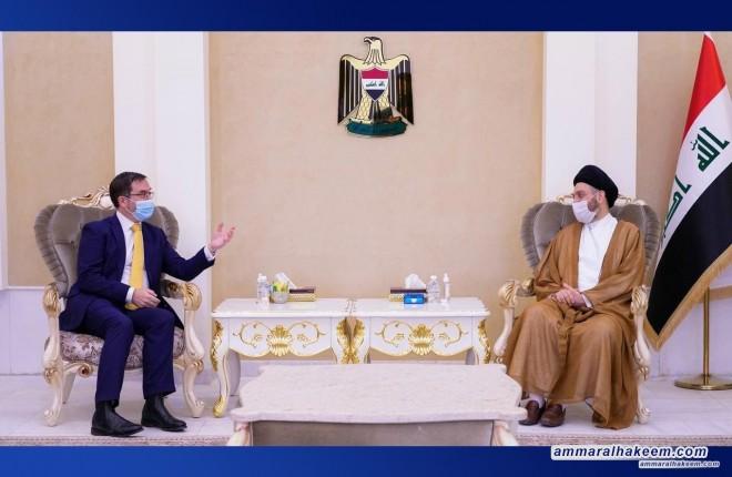 السيد عمار الحكيم يستقبل السفير البريطاني في بغداد