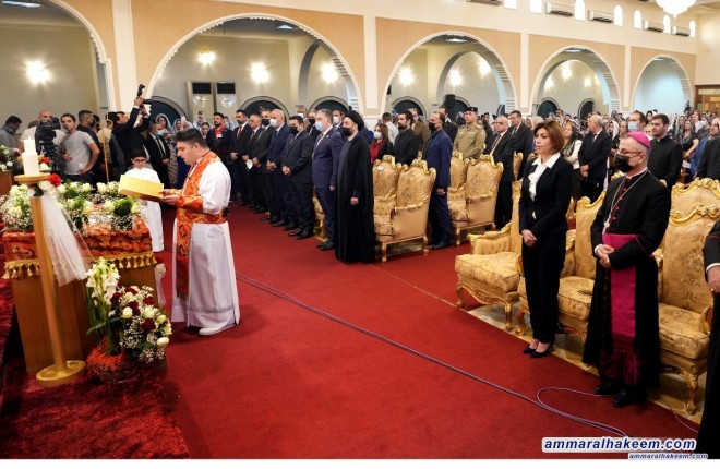 Sayyid Al-Hakeem attends consecrating Father Daniel Al-Khoury as Bishop of Iraq ceremony