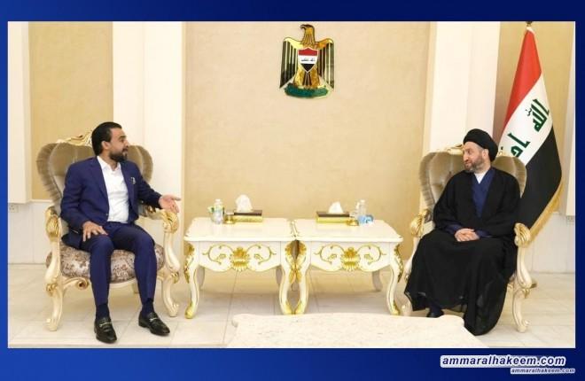 السيد عمار الحكيم يستقبل رئيس مجلس النواب محمد الحلبوسي ويبحث معه تطورات المشهد السياسي