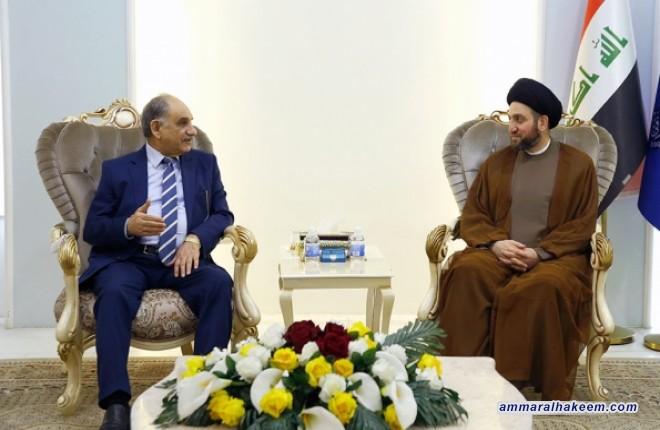 السيد عمار الحكيم يبحث مع الدكتور صالح المطلك تطورات العملية السياسية وتحديات مرحلة ما بعد داعش