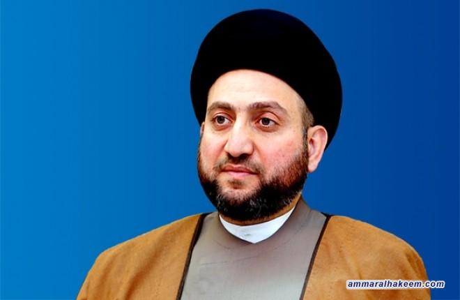 السيد عمار الحكيم يهنئ اية الله محمود الهاشمي بمناسبة اختياره رئيسا لمجلس تشخيص مصلحة النظام