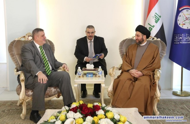 Sayyid Ammar al-Hakim with Jan Kubis to discuss Iraq exiting the United Nation Chapter IIV