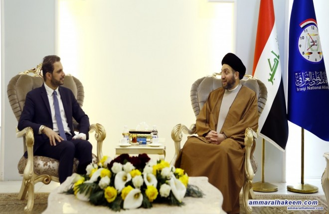Sayyid Ammar al-Hakim with Mr. Shaswar Abdulwahid to discuss prospects Baghdad and Erbil dialogue to end the crisis