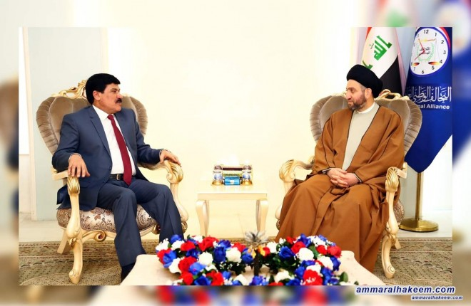 Sayyid Ammar al-Hakim with the Syrian ambassador to discuss prospects of bilateral relations