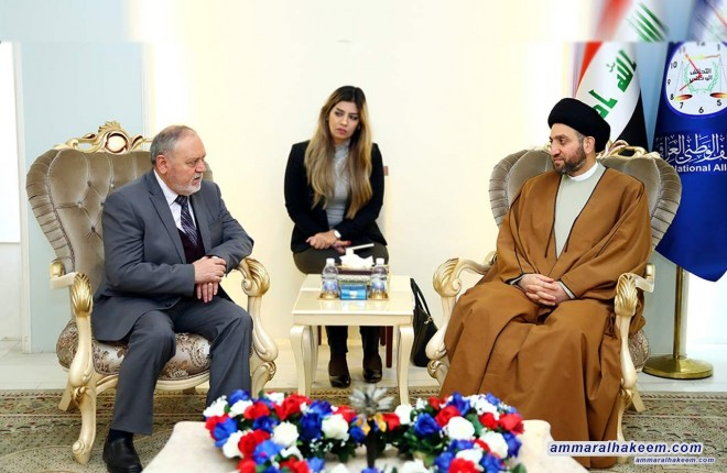 Sayyid Ammar al-Hakim to the Romanian Ambassador: The next phase is building the state and strengthening institutions