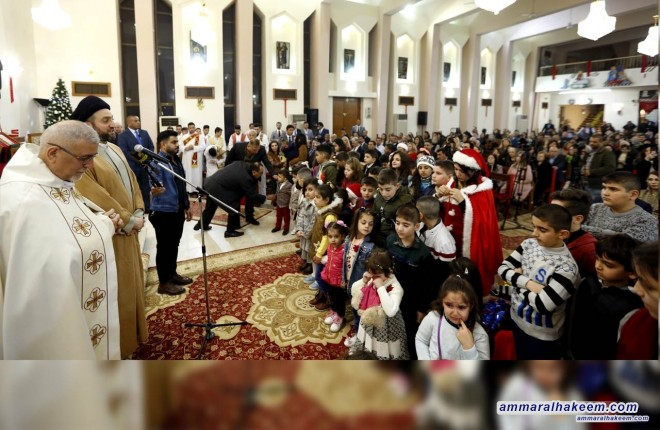 Sayyid Ammar al-Hakim joins Christians during Christmas Mass Service: We are meeting this year, we are celebrating victory over Daesh, with a determination to build a state that cares for all