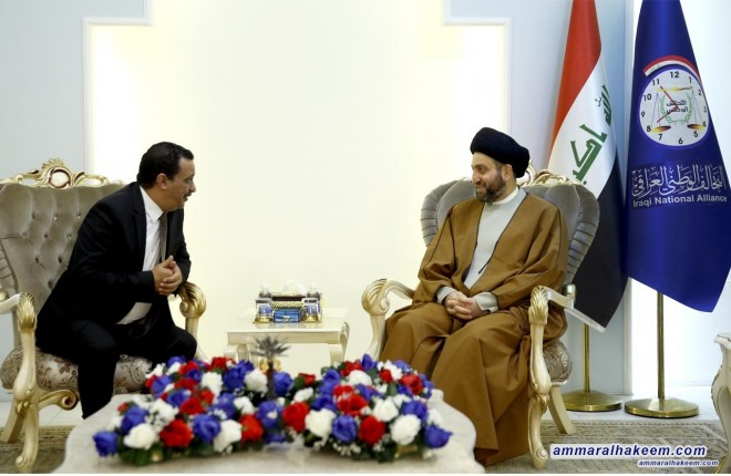 Sayyid Ammar Al-Hakim receives Tunisian Ambassador to discuss strengthening cooperation between Iraq and Tunisia