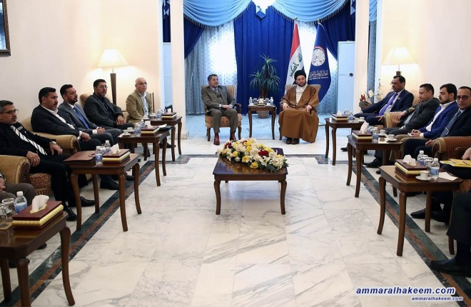 Sayyid Ammar al-Hakim commends the efforts made by secretaries of Al-Hikma National Movement abroad offices during founding conference and urges them to take care of Iraqi communities