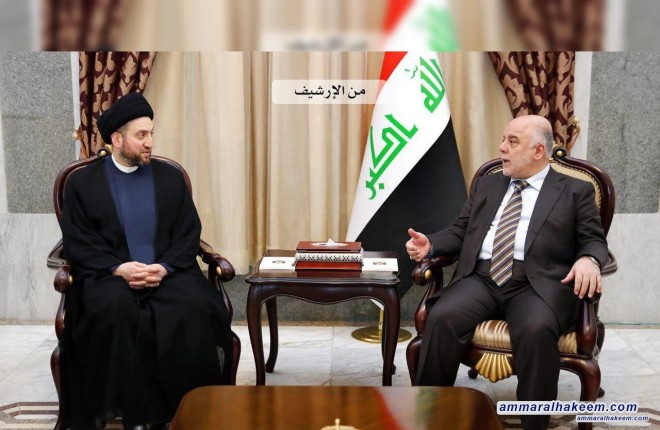 Sayyid Ammar al-Hakim with the Prime Minister to discuss commitment to constitutional timing of elections