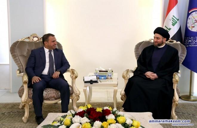 السيد عمار الحكيم يستقبل وفداً من المكون الأيزيدي ويؤكد دعمه لمؤتمر عام لهم