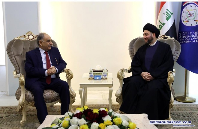 Sayyid Ammar Al-Hakim receives Mr. Saleh Al-Mutlaq