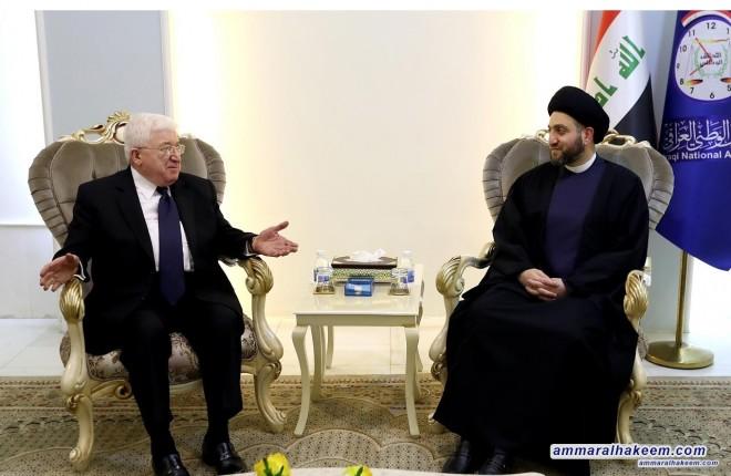 رئيس الجمهورية يبارك انعقاء المؤتمر التأسيسي لتيار الحكمة ويؤكد استعداد حكومة اقليم كردستان للحوار مع بغداد