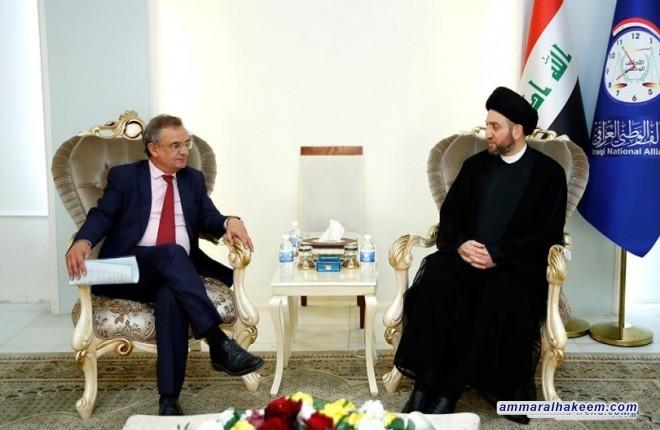 Sayyid Ammar al-Hakim receives Spanish Ambassador Juan José Escobar