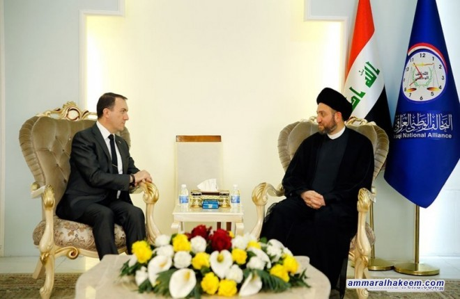 Meeting the Turkish ambassador .. Sayyid Ammar al-Hakim stresses on the unity of Iraq and the relying on the Constitution as a way to resolve issues between the Center and the Region