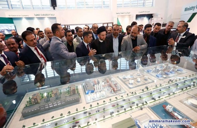 السيد عمار الحكيم : حضور الشركات الاقليمية والعالمية في معرض بغداد دليل انفتاح العالم على العراق