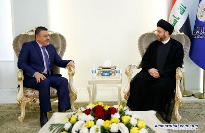 السيد عمار الحكيم يبحث مع الامين العام للمؤتمر الوطني تطورات العملية السياسية والامنية في العراق