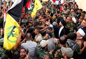السيد عمار الحكيم يستقبل المجاهدين من سرايا عاشوراء بعد مساهمتهم الفاعلة في تحرير الصقلاوية.