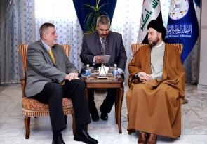السيد عمار الحكيم يبحث مع ممثل الأمم المتحدة مسار التسوية ودعمها وطنيا وإقليميا